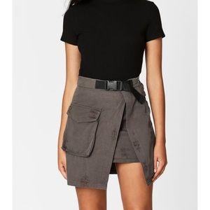 Carmar Denim Asymmetrical Cargo Skirt